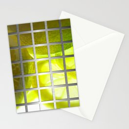 Limes & Square Grid Collage Metallic Stationery Cards