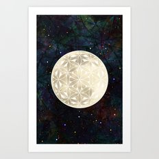 The Flower of Life Moon 2 Art Print
