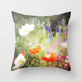 Magic Poppies Throw Pillow