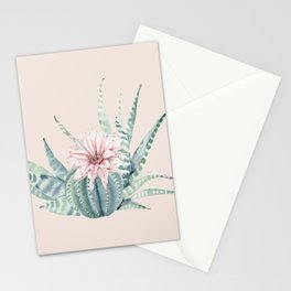 Aloe Cactus Rose Pink Stationery Cards