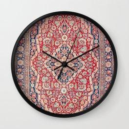 Mohtashem Kashan Central Persian Rug Print Wall Clock