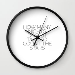 Typographic Print Typography quote ONE DIRECTION ART Typography Art Print Song Lyrics Minimalist Pos Wall Clock