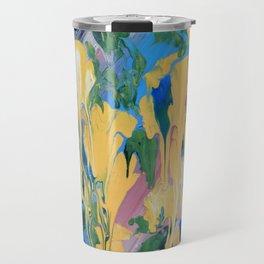 Abstrct Yellow flowers Travel Mug