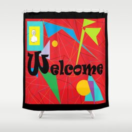 American Sign Language ASL WELCOME Shower Curtain