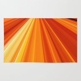 Bright Orange Sun Glare Rug