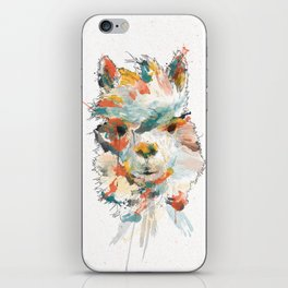 + Watercolor Alpaca + iPhone Skin