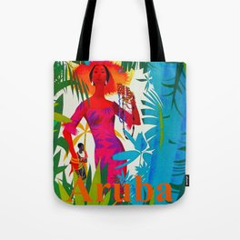 Vintage Caribbean Travel - Aruba Tote Bag