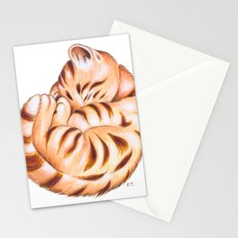 Cute Ginger Tabby Fur Ball Stationery Cards