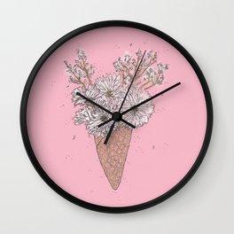 Flower Ice cream Cone....... Wall Clock
