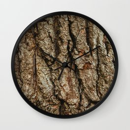 Old English Oak Bark Wall Clock