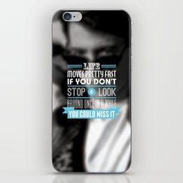 """FERRIS BUELLER"" Typography Poster iPhone Skin"