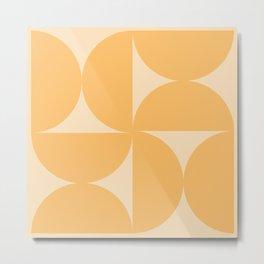 Monochromatic Minimalism - Yellow Metal Print