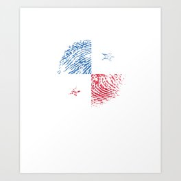 Panama Flag Vintage Panamanian It's In My Dna Gift Art Print