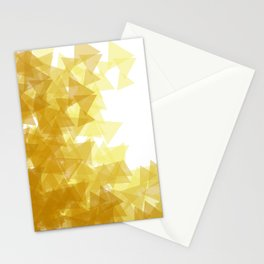 Gold abstract Stationery Cards