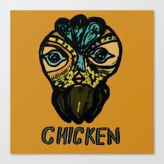 chicken mask Canvas Print