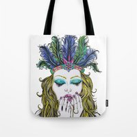 indiana Tote Bags featuring INDIANA by Rachel E Murray