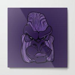 Gorilla - Ultra Violet Purple Metal Print