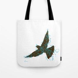 Bird Fly No. 2  (Brown/Aqua) Tote Bag