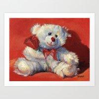 Snowball's in Love Art Print