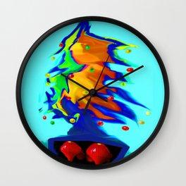 Flying overseas the xmas tree... Wall Clock