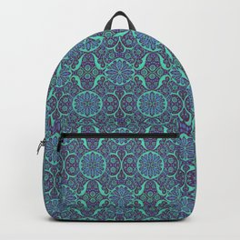 Poppy Pods Mint and Purple Backpack