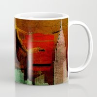 takmaj Mugs featuring Jump on the green city by Ganech joe