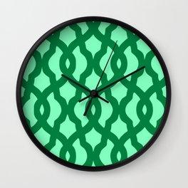 Grille No. 2 -- Seafoam Wall Clock