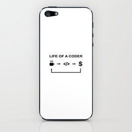 Life of a coder iPhone Skin