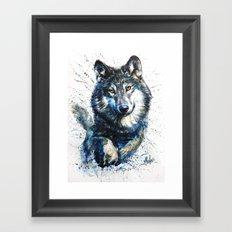 Gray Wolf - Forest King Framed Art Print