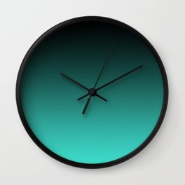 Modern Black and Turquoise Ombre Wall Clock