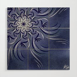 Lavender Flourish Wood Wall Art