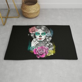 Aaliyah - Day of the Dead Rug