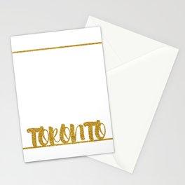 Gold Toronto Stationery Cards