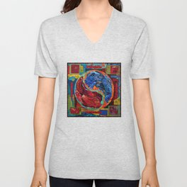 Head Over Tails Unisex V-Neck