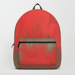 Jubilant 10 - Abstract Modern - Red Brown Gray Backpack