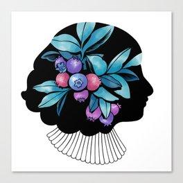 Blueberry Essence Canvas Print