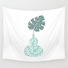 The Vase of Monstera Wall Tapestry