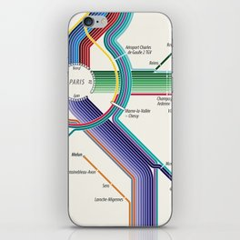Itinéraires de train à grande vitesse de la France iPhone Skin