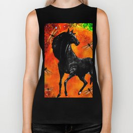 HORSE MOON AND DRAGONFLY VISIONS Biker Tank