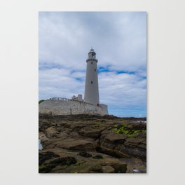Whitley Bay St Mary's Lighthouse Canvas Print