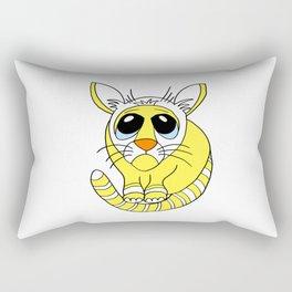 Hand drawn funny looking cat Rectangular Pillow