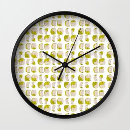 Eating process (Apple) // watercolor apple consumption Wall Clock