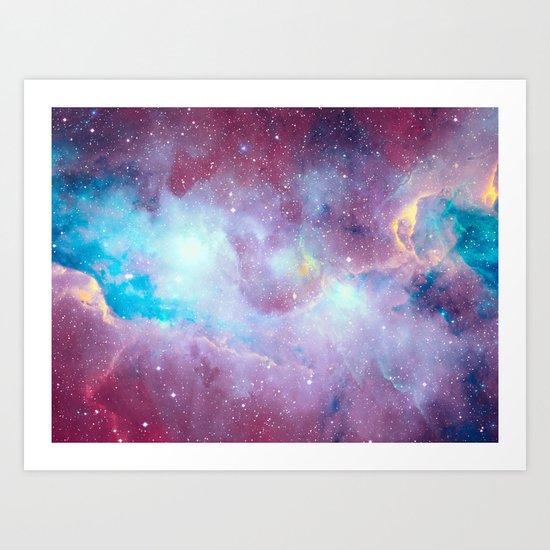 Quartz & Turquoise Galaxy Art Print