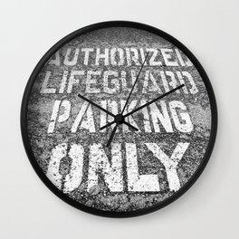 Lifeguard Parking Space Wall Clock