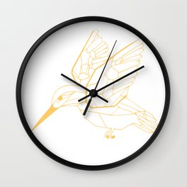 Kingfisher Butterscotch Wall Clock