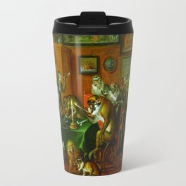 Tabakskollegium by Abraham Teniers (mid-17th century) Travel Mug