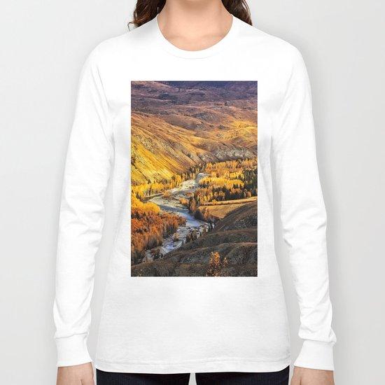 China Mountain Range Long Sleeve T-shirt
