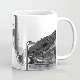 Golden Gate Bridge Black and White Coffee Mug