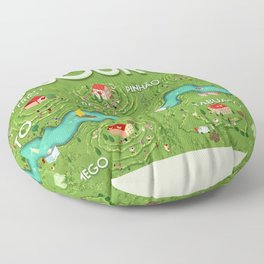 Travel Posters - Douro Floor Pillow