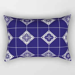 Talavera Mexican Tile – Porcelain Palette Rectangular Pillow